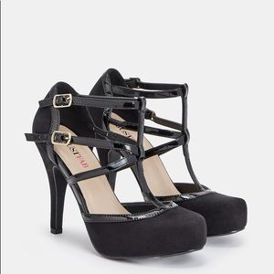 Georgeitta Just Fab black shoes 8.5